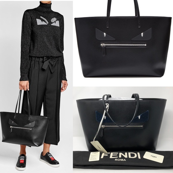 dbaea26ac6b5 FENDI ROLL MONSTER EYES TOTE